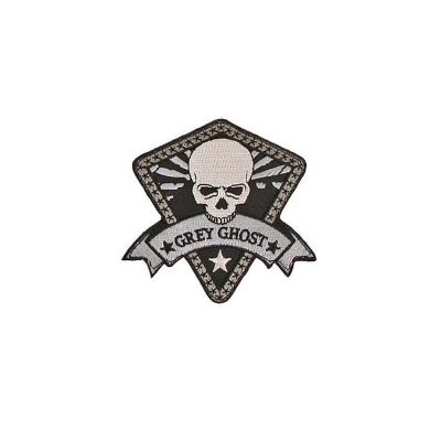 GREY GHOST | Logo Morale Patch | Black