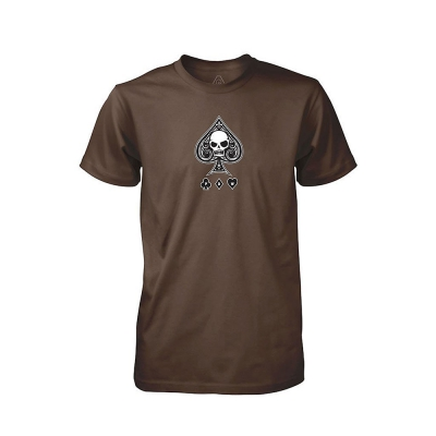 PDW | Ace Of Spades V1 T-shirt - Brown | Large