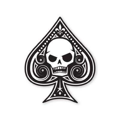 PDW | Memento Mori Ace Of Spades Sticker | Type 1