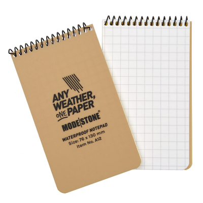 MODESTONE | 76x130 mm Notepad | 50 blad/100 sidor | Tan