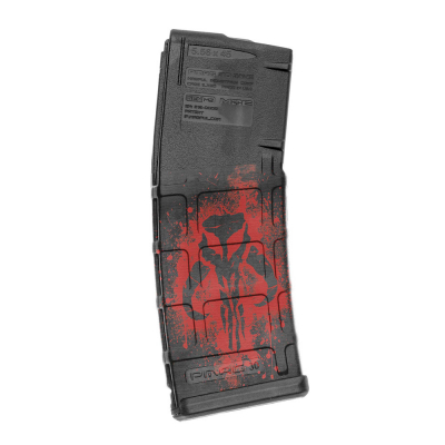 GUNSKINS | AR-15 Mag Skins 3-pack | GS Mercenary Skull