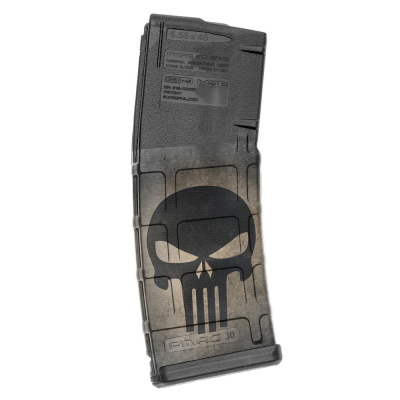 GUNSKINS | AR-15 Mag Skins 3-pack | GS Skull Black