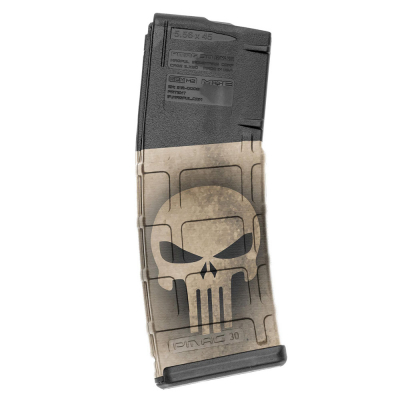 GUNSKINS | AR-15 Mag Skins 3-pack | GS Skull Tan
