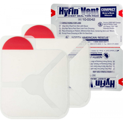 NAR | Hyfin Vent Compact Chest Seal | Twin Pack