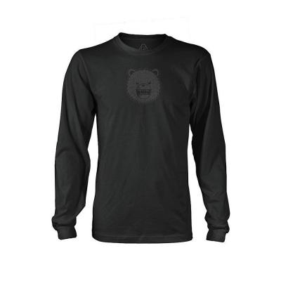DRB | Monochrome Long Sleeve T-Shirt | Black