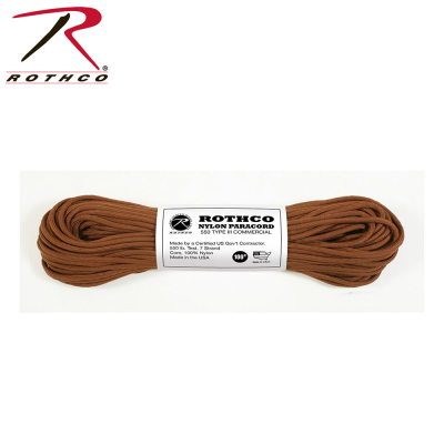 Rothco Nylon Paracord Type III 550 LB 100FT | Chocolate