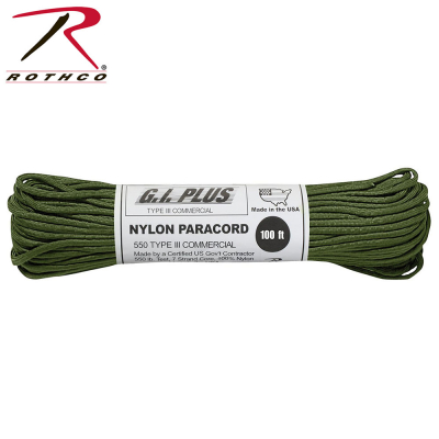 Rothco Nylon Paracord Type III 550 LB 100FT | OD