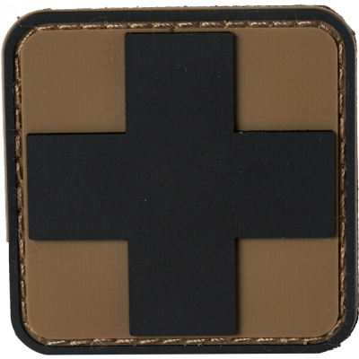 NAR | PVC MEDIC CROSS PATCHES | Svart/Coyote