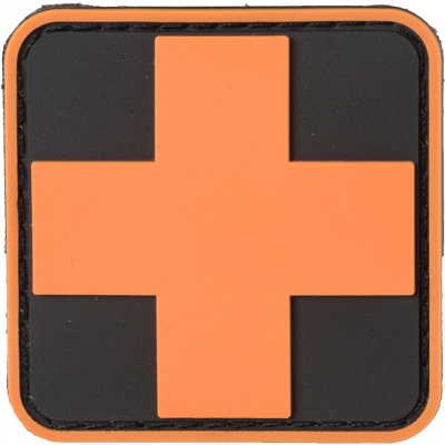 NAR | PVC MEDIC CROSS PATCHES | Orange/Svart