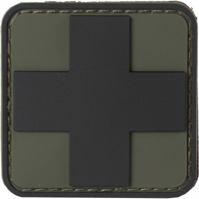 NAR | PVC MEDIC CROSS PATCHES | Svart/OD